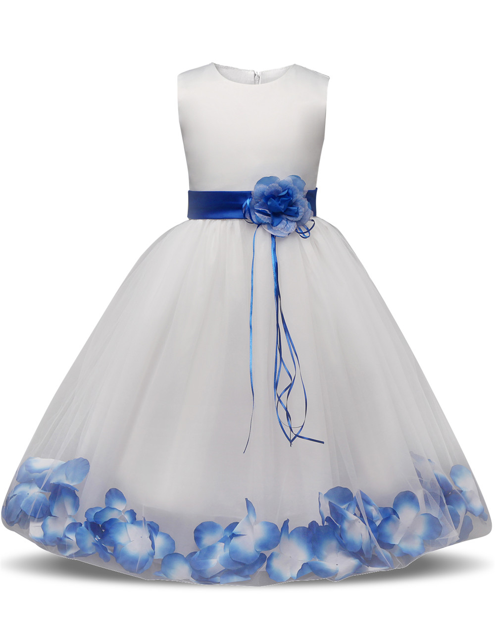 Fairy Petals Teen Girl Dress Children Ceremony Party Evening Dress Girls Prom Gowns Kids Tulle Tutu Dresses For Girls Frocks 10T in stock layered pre teen party gowns little girls pageant dress pink color