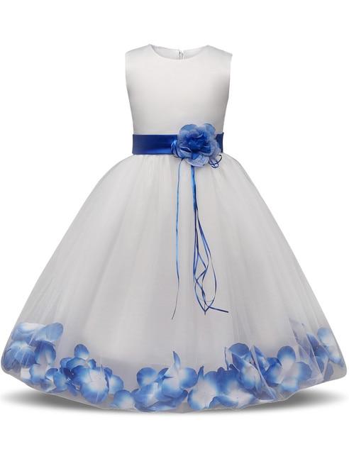 c09054693168 Fairy Petals Teen Girl Dress Children Ceremony Party Evening Dress ...