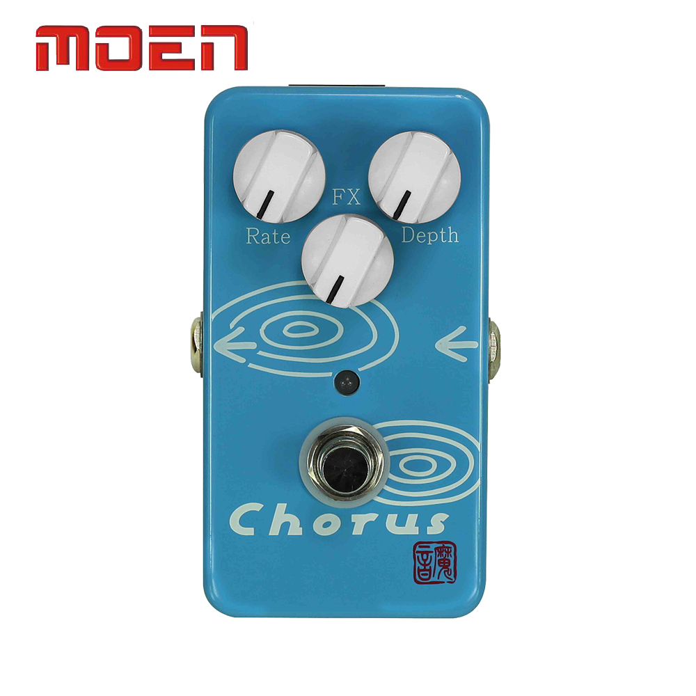 Moen AM-CH Pedal True Bypass Design Chorus Rate Depth Control Electric Guitar Effect Pedal mooer ensemble queen bass chorus effects effect pedal true bypass rate knob high quality components depth knob rich sound
