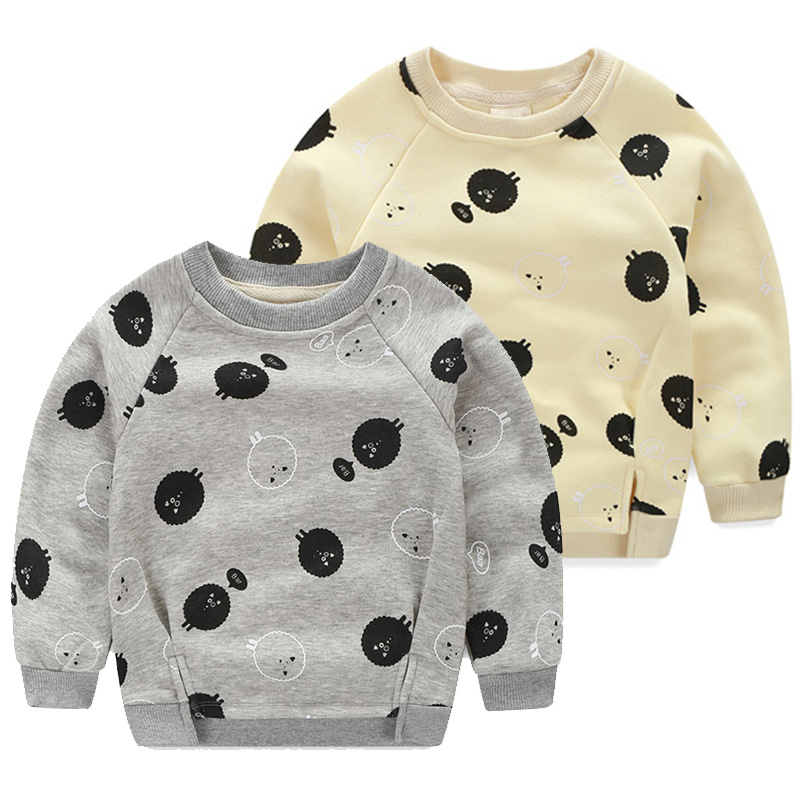 Baby Boys Girls Hoodies Clothes Children Winter Thick Sweatshirts Toddler Casual Sweater Kids Plus Velvet Tops Costume