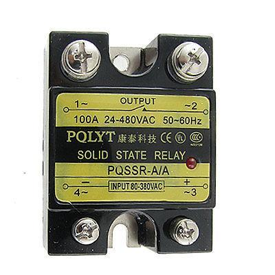 Single Phase Solid State Relay SSR AC-AC 100A 80-380V / 24-480V high quality ac ac 80 250v 24 380v 60a 4 screw terminal 1 phase solid state relay w heatsink