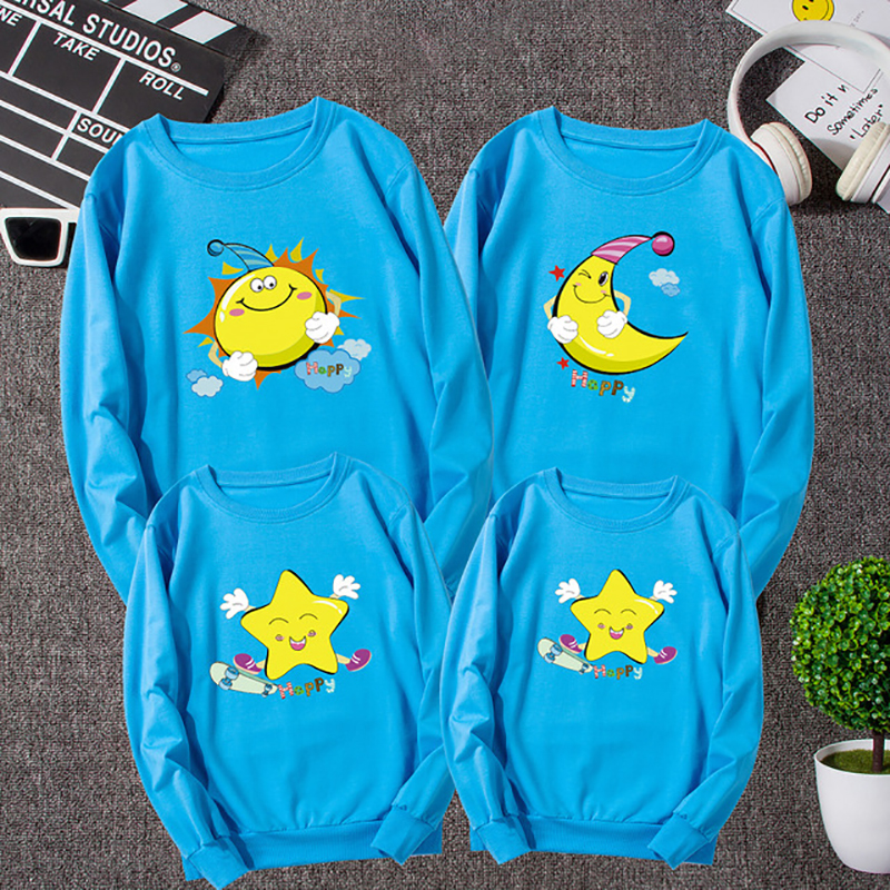1Piece Spring Family Matching Clothes New Family Look Character T Shirts Father Mother Kids Outfits Family Matching Clothes