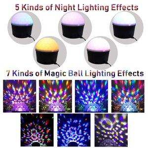 Image 2 - مشغل موسيقى صغير LED بضوء ليلي للديسكو وبلوتوث MP3 5 فولت لإضاءة المسرح والحفلات المنزلية تأثير لقاعة الرقص مصباح نوم الطفل