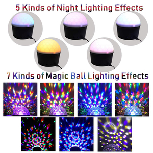 Image 2 - Мини СВЕТОДИОДНЫЙ Магический диско шар, ночной Светильник MP3, Bluetooth, музыкальный плеер, 5 В, для дома, вечерние, сценическое освещение, светильник, эффект ing, танцевальный пол, Детская лампа для сна