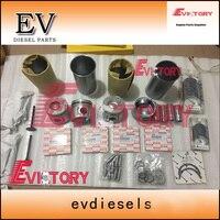 For Isuzu 4JB1T engine rebuild kit 4JB1 piston+ring+cylinder liner+gasket kit bearing kit valve guide seat+bushing