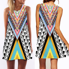 3D vintage Print summer dress  bohemian beach dress summer sundresses women dresses dashiki hippie boho vestidos plus size