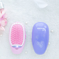 Pritech Mini Hair Comb Electric Massage Hair Brush Potable Comb Brush For Hair Take Out Anti -Static Girls Hair Brush 5