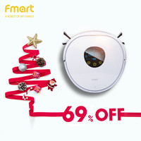 Fmart Robot Vacuum Cleaner UV Dust Sterilize 1000Pa Suction Wet Mopping With Selfcharge Remote Control PYLOSOS YZ U1S