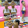Shrilling Barack Obama Action Figure Squeeze Screaming Funny Toy 13'' Tall