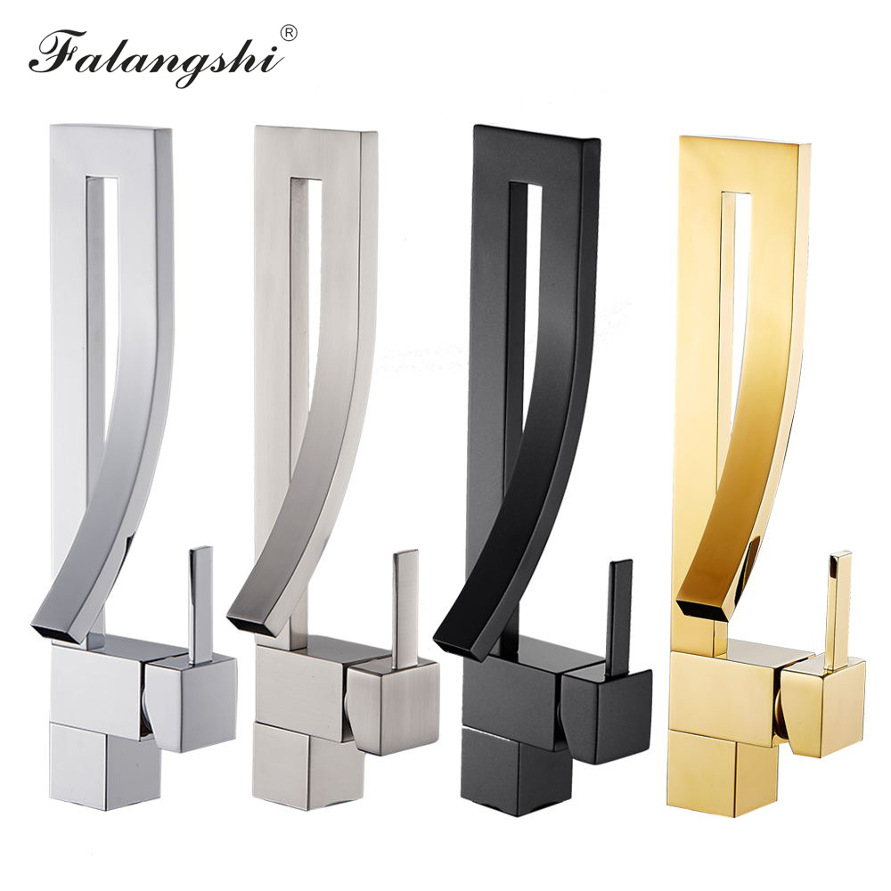 Bathroom Basin Faucets Chrome Hot And Cold Wash Basin Taps Art Design Basin Vintage Sink Mixer Water Taps Brush Golden WB1066