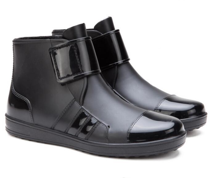 YIDAKU Men Pvc font b Rain b font font b Boots b font Ankle Waterproof Shoes