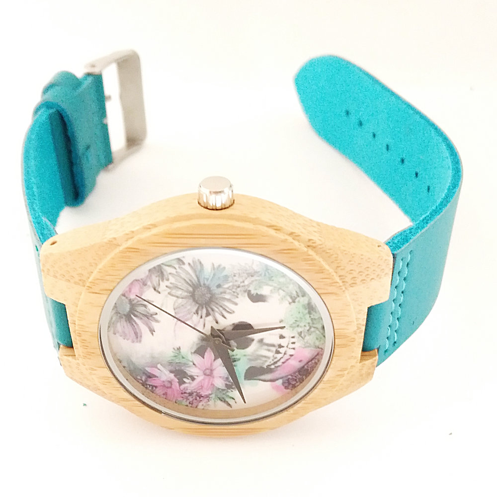 Zegarki z drewna bambusowego dla kobiet mężczyzn Zegarki z drewna - Zegarki damskie - Zdjęcie 4