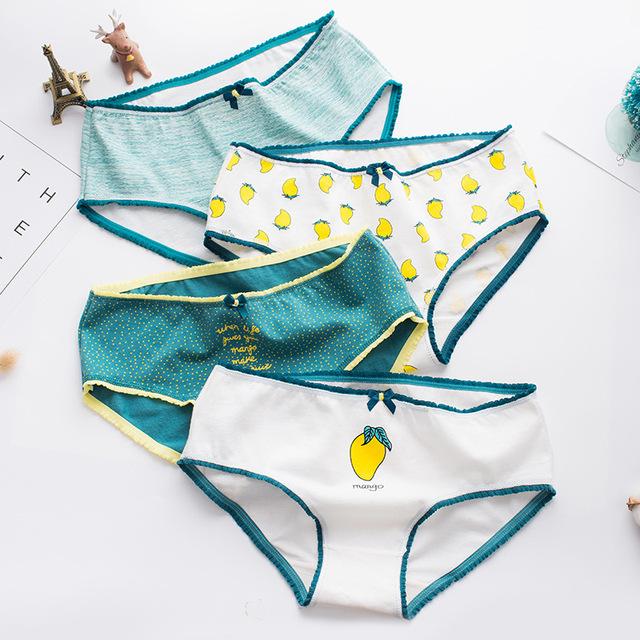 Mango print sexy lingerie underpants
