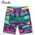 2017 Summer casual fashion sexy for men brand printed boardshort shorts luxury quick drying bramuda mens beach shorts trunks