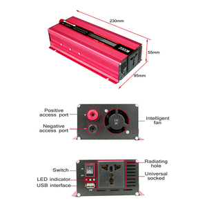 Image 5 - 1000 W oder 2000 W Auto Inverter LCD Display 12 V zu 220 V Inverter 12 v 220 v Power inverter Konverter Tragbare USB Ladegerät