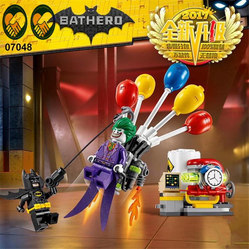 A Toy A Dream Lepin 07048 Genuine Batman Movie Series The Joker Balloon Escape Set 70900 Building Blocks Bricks Educational Toys l a movie