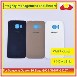 Image 3 - 50Pcs/lot For Samsung Galaxy S6 Edge G925 G925F G925T Housing Battery Door Rear Back Glass Cover Case Chassis Shell Replacement