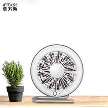 Creative desktop fan dormitory office bedside table mute small fan rechargeable USB mini fan ITAS6656A