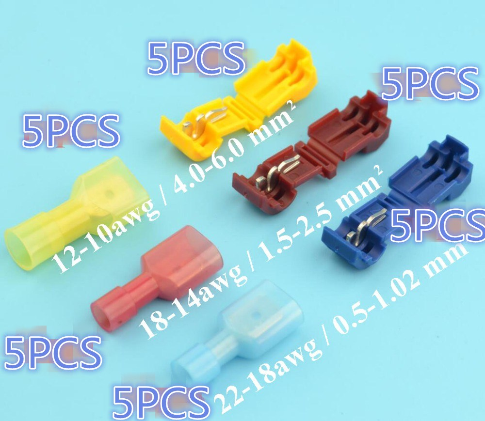 30pcs 15pairs Scotch Lock Quick Splice Wire Connectors Terminals ...