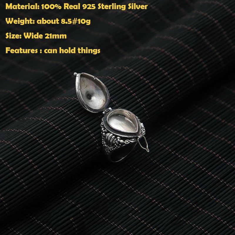 エスニック男性女性リング 100% 925 スターリングシルバーリングガムボックス男性ジュエリーレッド天然石ギフトファッションジュエリー GR63