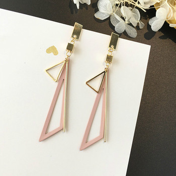 Geometric Fringes Long Women Dangle Earrings