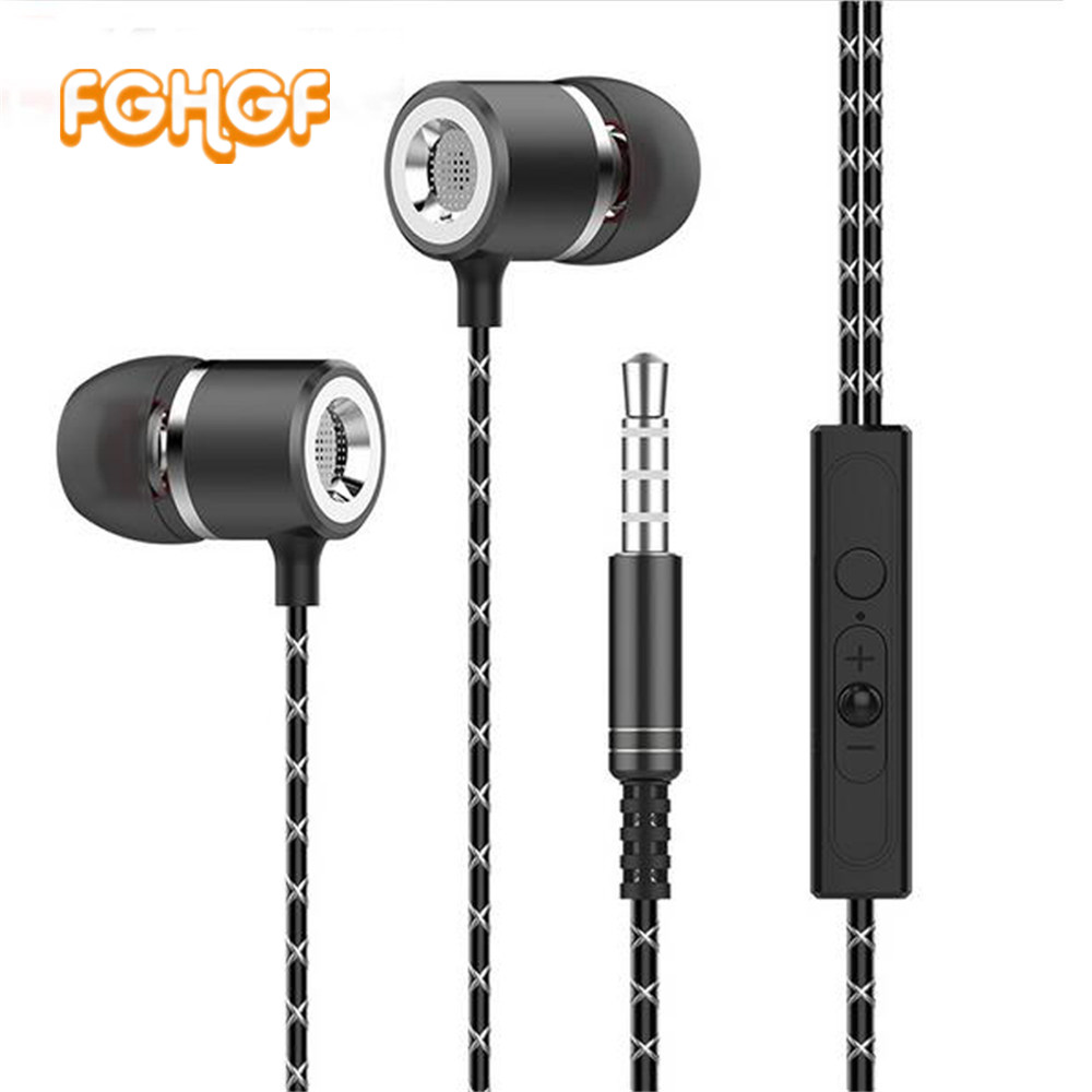 FGHGF S1 Metal Earphones with Microphone Super Bass Headset Earbuds In-ear Earphone for phone Xiaomi iphone audifonos