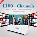 2017 Mais Barato Android Francês Árabe IPTV Caixa Smart TV Box Com Livre 1100 + HD TV Ao Vivo IPTV Set Top Box Pacote Francês Europa IPTV