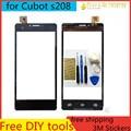 Envío diy herramientas + 100% original de la pantalla táctil para cubot s208 s208a digitalizador pantalla táctil sensor de cristal para cubot s208 negro