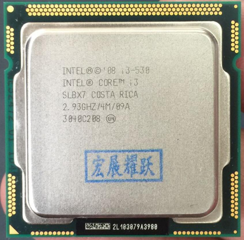 Intel Core I3-530  I3 530  Processor (4M Cache, 2.93 GHz) CPU LGA 1156 100% Working Properly Desktop Processor