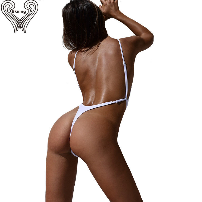 Thong One Piece Swimwear 2017 Sexy Thong Bodysuit Bikini Leotard One Piece Swimsuits Women High Cut