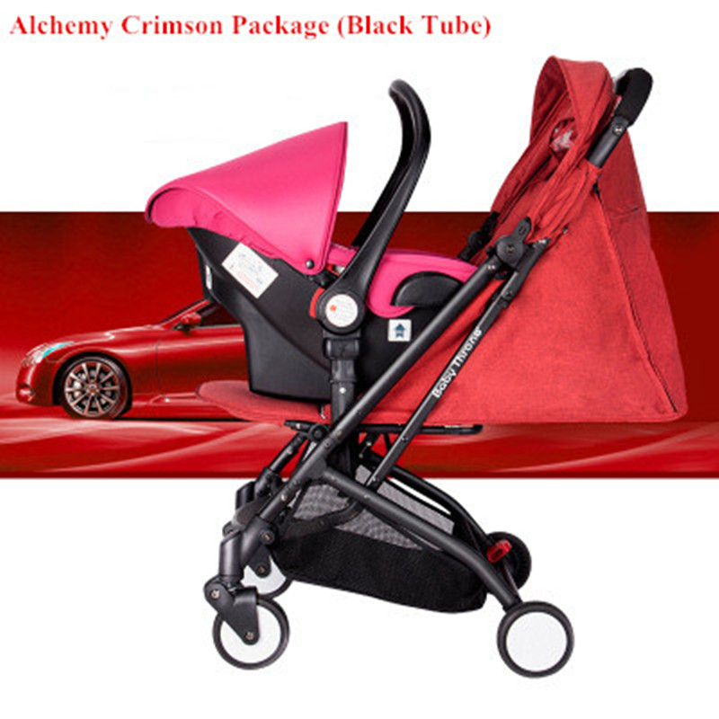 CHBABY High Landscape Baby Stroller Ultra Light Seat Can Lie Reversible Child Stroller Four-wheeled Baby sometimes i lie