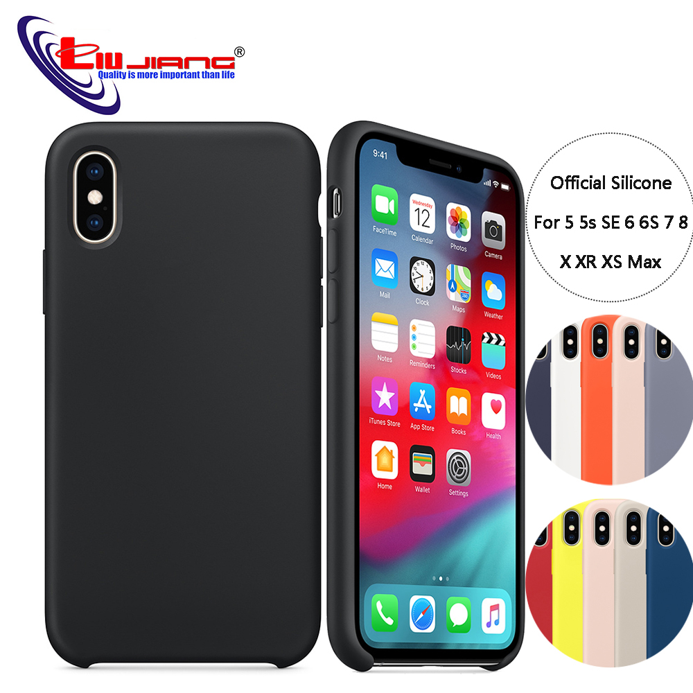 Have LOGO Original Official Style Silicone Case For iPhone X XS MAX XR 8 6 S Plus 5 5S SE Case