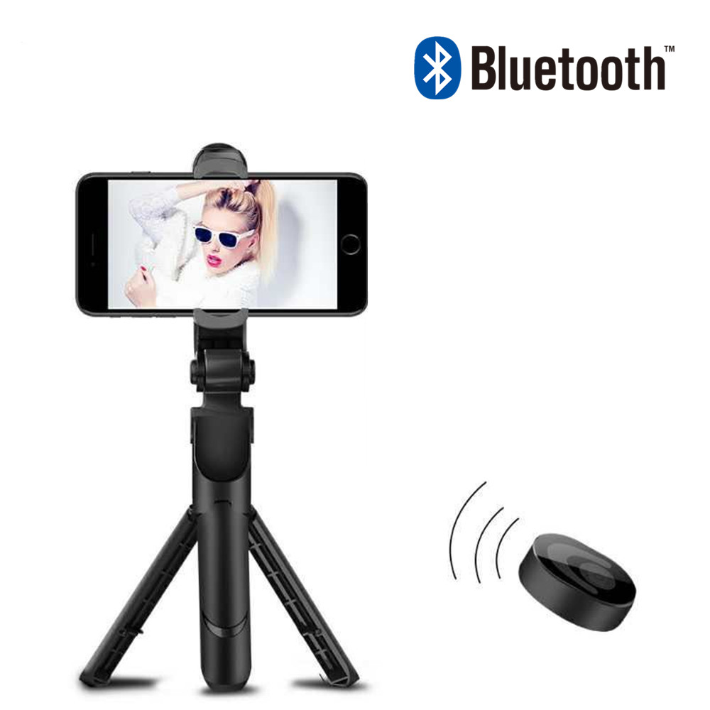 FG3 Handheld Tripod Selfie Stick 3 in 1 Bluetooth Extendable Monopod Selfie Stick Tripod for iPhone se 8 Samsung