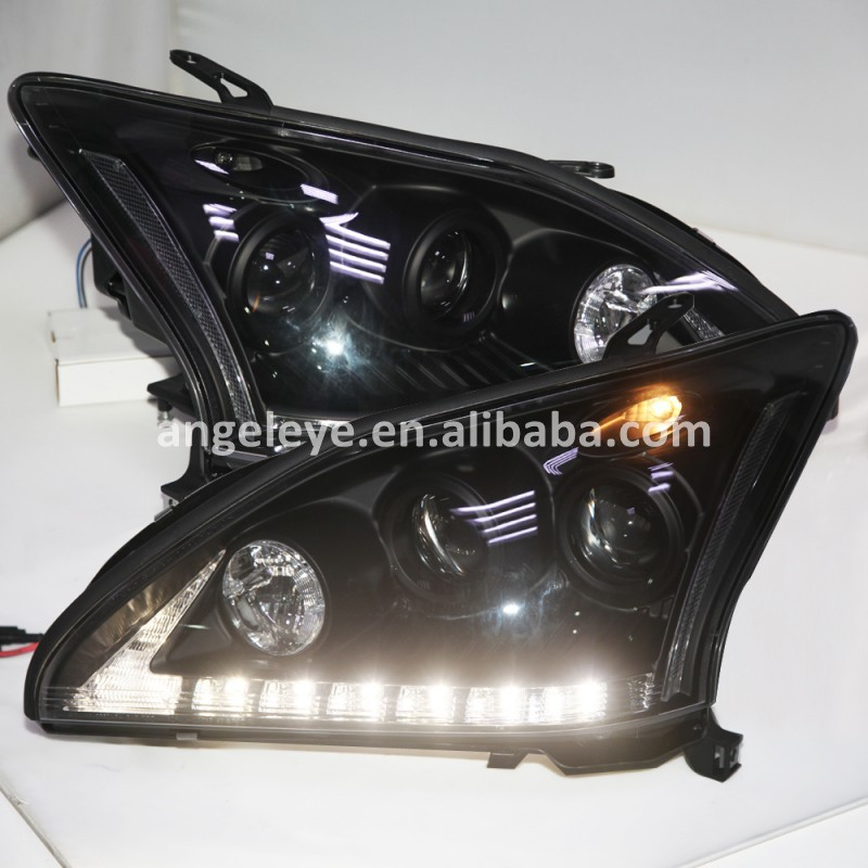 2004-2009 Année Pour Lexus RX300 RX330 RX350 LED Phares Tête Lampes Noir Logement SN