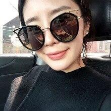 Ojo de Gato de la vendimia gafas de Sol Mujeres Diseñador de la Marca Gafas de Sol de Moda Para Las Señoras Shades Ladies Retro Gafas de Espejo Gafas de Sol