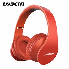 Lobkin Bluetooth Headphone Hand- free Calling Over- Ear For Smartphone