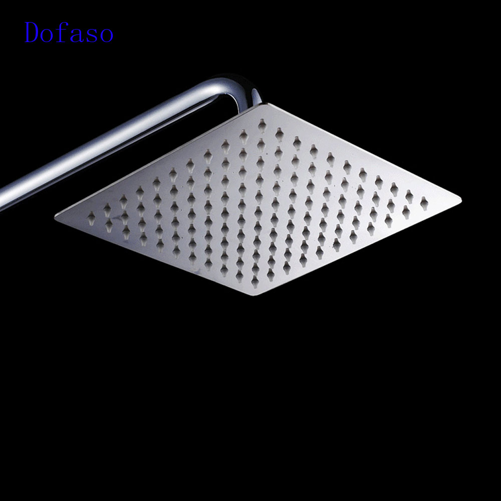 Dofaso quality bathroom stainless shower faucet with square rain ...