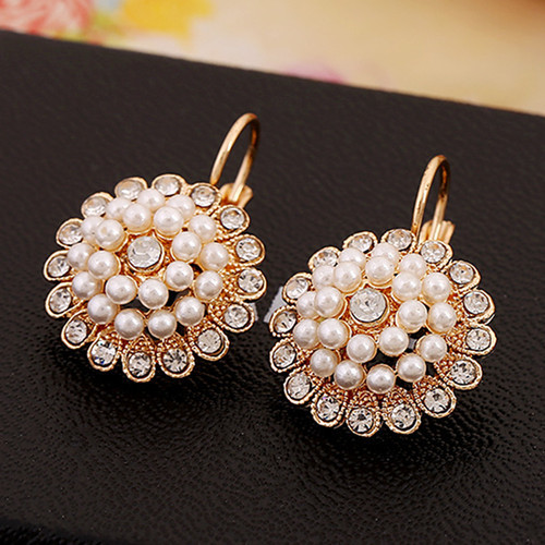 Elegant Wedding Earring For Women Gold Color Austrian Crystal Pear Earrings Xll064 In Drop From Jewelry Accessories On Aliexpress