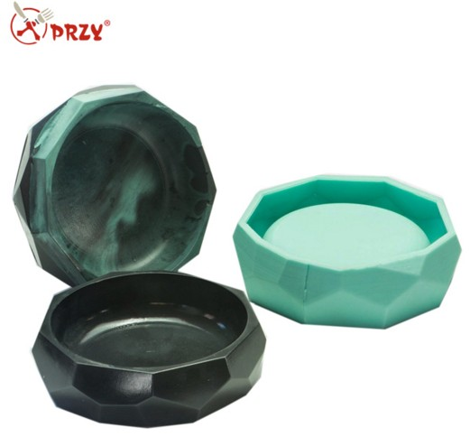 3d Silicone molds Geometric shape flower pot and vase molds for concrete