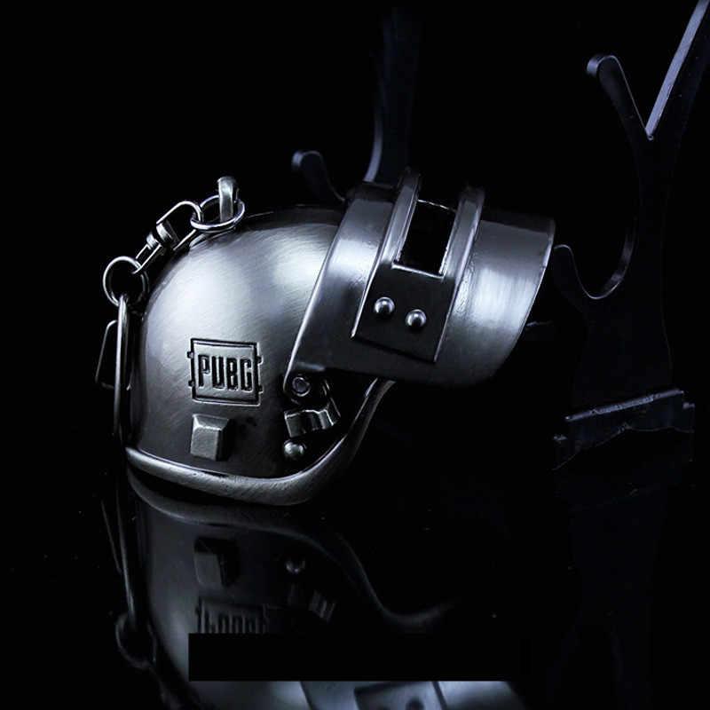 Игра Playerunknown's Battlegrounds Косплей Аксессуары уровень 3 шлем PUBG металлический кулон брелок ожерелье Игрушка реквизит новый