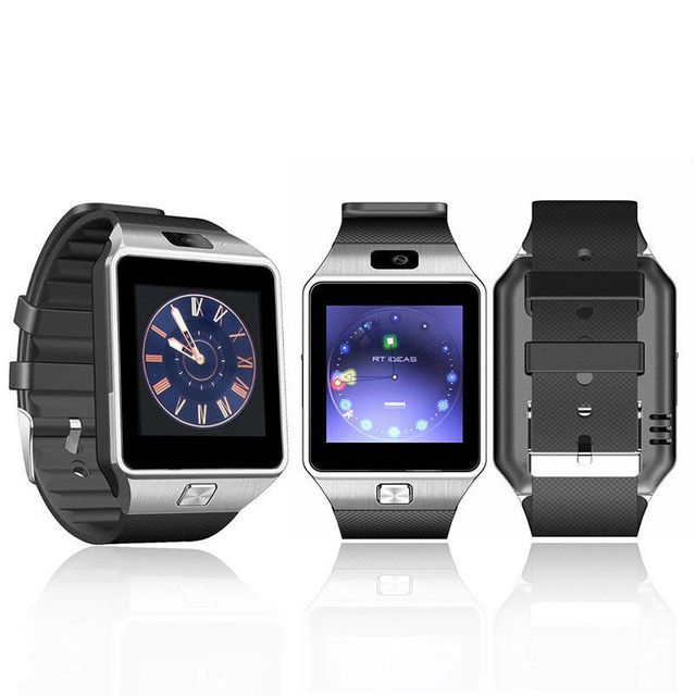Free Shipping Men's watch Black Bluetooth DZ09 Smartwatch GSM SIM Card With Camera For Android IOS