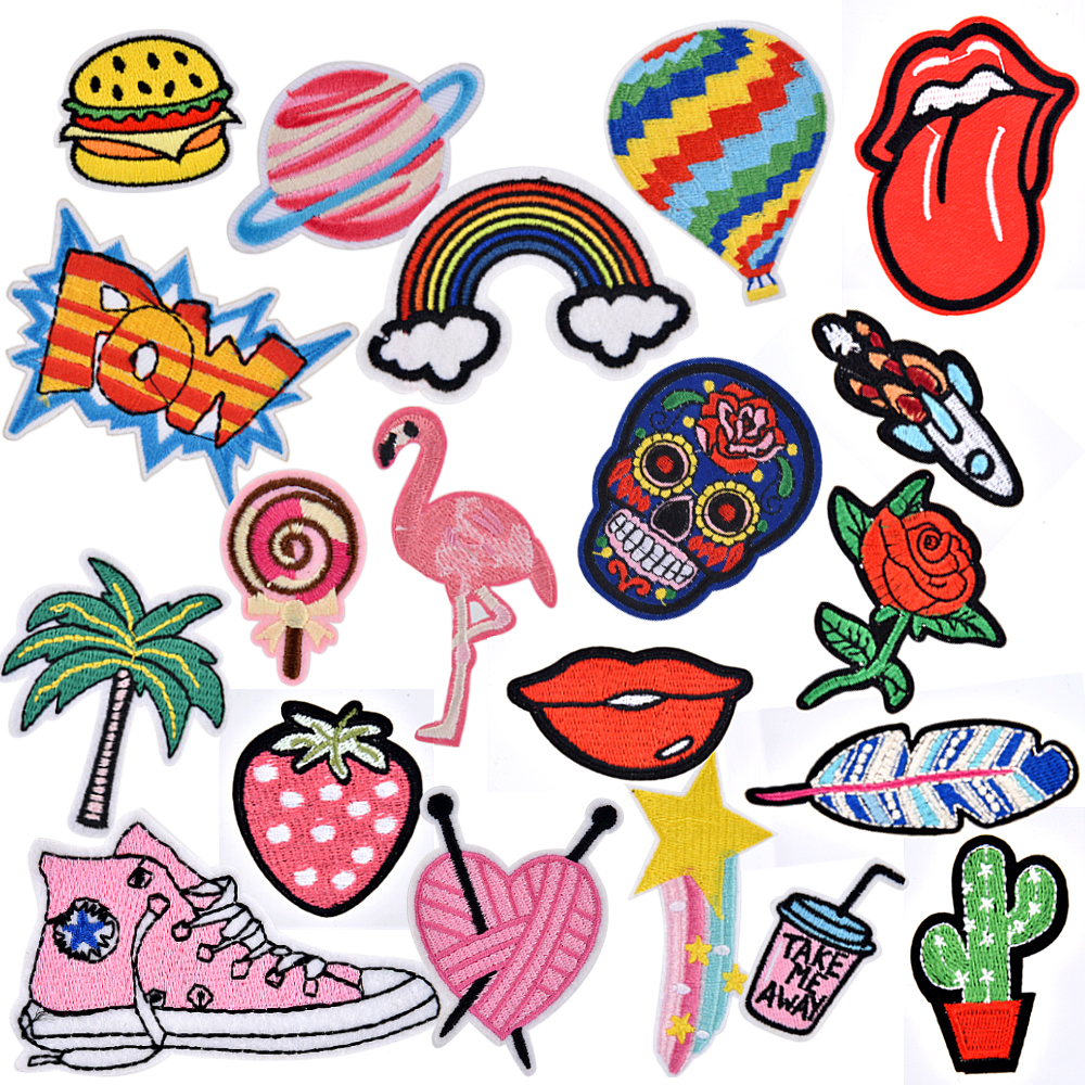 Apparel Sewing & Fabric Home & Garden Eyelash Patches Iron On Or Sew Fabric Sticker For Clothes Badge Embroidered Appliques Diy Keep You Fit All The Time