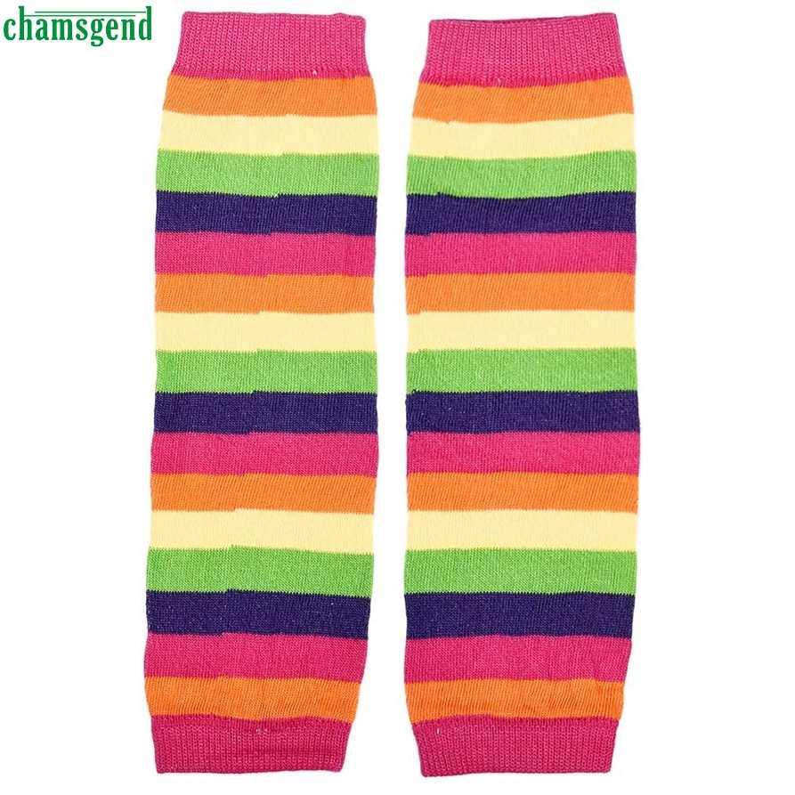 CHAMSGEND WillBeen Kadın çizme Sıcak Pin pamuk çorap Bebek Kız Gökkuşağı Kneepad Çorap Bacak 1 çift Çorap bacak ısıtıcısı Moda May26