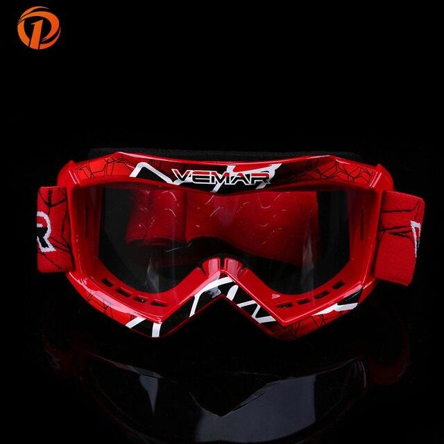 POSSBAY Child Children Kids Motorcycle Goggles Glasses Off Road Motocross Racing Dirt Bike Anti-UV Adjustable Skiing Goggles