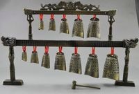 Collectibles Decorated Old Copper Dragon Belle Bell Zeng Hou Yi Chime Instrument