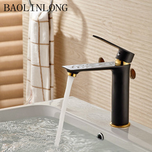 BAOLINLONG Baking Finish Style Basin Bathroom Faucets Vanity Vessel Sinks Deck Mount Mixer Brass faucet Tap