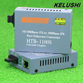 KELUSHI HT-1100S Transceptor De Fibra Convertidor de Medios de Fibra Óptica Convertidor de Fibra Del Solo 25 km SC 10/100 M Monomodo fibra