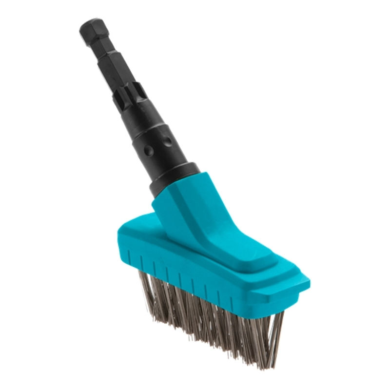 Brush GARDENA 03605-2000000 (For removing moss of joints in the walls and between плитами, recommended hand grip 130-15 cm, high quality plastic shell, bristles made of special steel, scraper) brush scraper maxi plast 51 cm