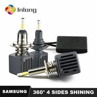 Inlong With SAMSUNG Chips H7 H4 Led 4 Sides Lamp HB3 9005 LED H11 H1 D2s Bulbs Car lights 10000LM 6500K Fog Lights led HB4 9006