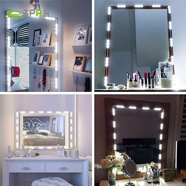 Zopaa Modern Makeup Mirror Light 60 Led Vanity Mirror Light Dressing